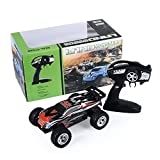 Remote Control Off Road Truck Race Vehicle Model Electric 1:24 RC Car K24-1 2.4G 15KM H High Speed Children Model Toy (Red)