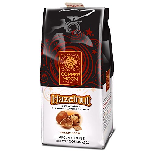 Cooper Ground (Copper Moon Hazelnut Coffee, Medium Roast, Ground, 12-Ounce Bags (Pack of 3))