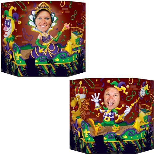 Mardi Gras Photo Prop (1 side male; other side female) Party Accessory  (1 count) -