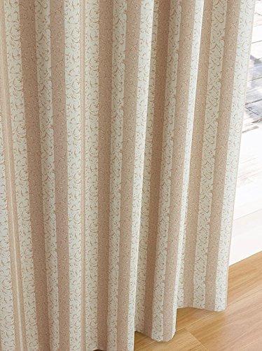 東リ シックな色柄にメリハリの効いたストライプ カーテン2倍ヒダ KSA60299 幅:300cm ×丈:250cm (2枚組)オーダーカーテン   B077TBZB4Z