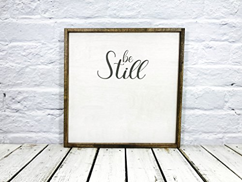 Be Still and Know That I Am God Farmhouse Decor Wood Sign Bible Verse Psalm 46:10