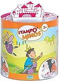 Aladine 85114 Stampominos - Lote de sellos de madera y tampón para decorar, diseño de hadas