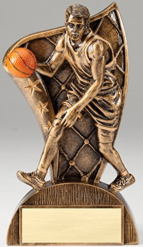 (Etch Workz Basketball Award - Resin Trophies - Sport Trophy With Customized Text)