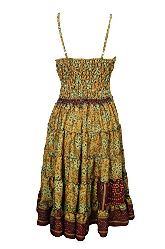 Grün Brown M green Kleid Damen Mogul Interior S Orange qnF8apxpA