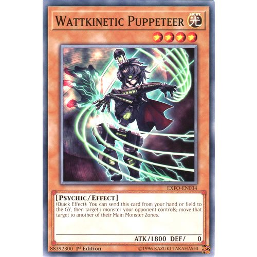 Common Card EXFO-EN034 Yu-Gi-Oh WATTKINETIC PUPPETEER