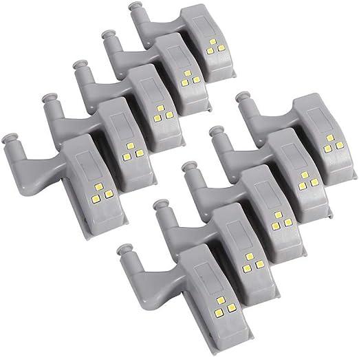 10 Pack Cabinet Hinge LED Sensor Light For Wardrobe Cupboard Home Kitchen Closet