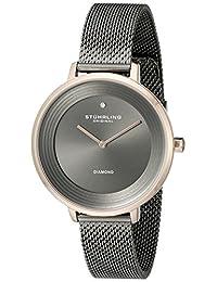 Stuhrling Original Women's 589.04 Symphony Analog Display Quartz Grey Watch