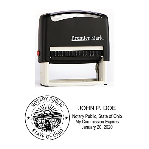 Ohio Notary Self-Inking Rubber Stamp - Meets State - Ohio Office State Supplies