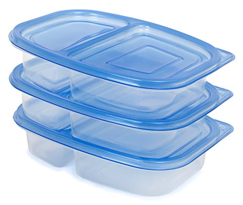 [87% OFF - Sale Ends Dec 24] Lunch Box / Food Storage Container with Lid (NOT Leak-Proof) | FDA-Approved, BPA- & Phthalate-Free | Reusable, Microwave-Safe | 2-Compartment, Set of 3 (Mermaid Container compare prices)