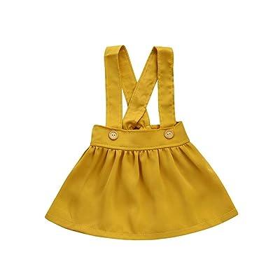 ????LUCKYCAT???? Toddler Kids Baby Girls Outfit vêtements Solide sangle jupe survêtements robe tenues Vêtements pour enfants Charmant À la mode Populaire Bonne qualité