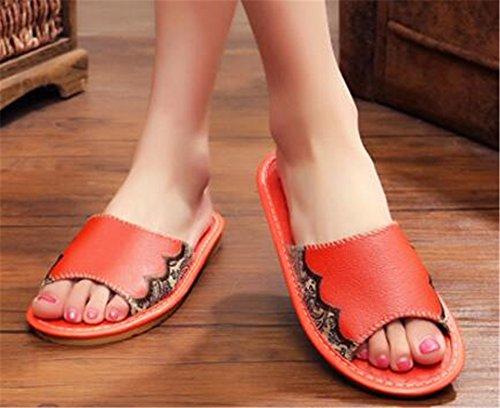 Orange Femme pour pour Chaussons TELLW Chaussons TELLW Orange TELLW Femme Chaussons pour 1APxwq7