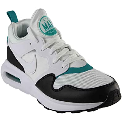 Nike Mens Air Max Prime Running Shoe White/White-Turbo Green-Black 10
