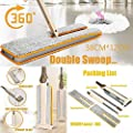 Wffo Useful Double-Side Flat Mop Hands-Free Washable Mop Home Cleaning Tool Lazy Ship from USA