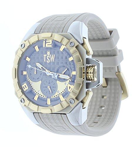 Technosport TS-104-5 Women's 40MM Beige/Gold-Tone Swiss Movt Watch