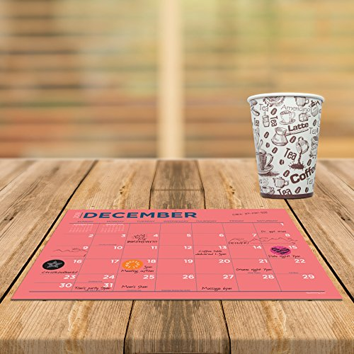 TF Publishing 19-8548A July 2018 - June 2019 Color Collection Mini Desk Pad Calendar, 12 x 9'', Multi Colored by TF Publishing (Image #7)