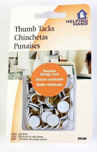 UPC 760921259078, Helping Hand White Thumb Tacks, 3-Pack