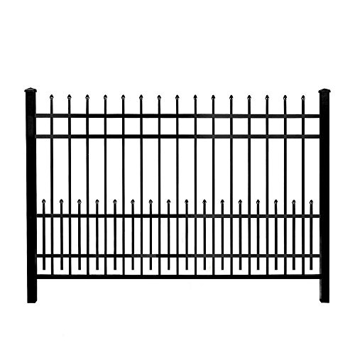 Mainstreet Aluminum Fence 3/4 in. x 2 ft. x 6 ft. Aluminum Black Puppy Guard Add-On Panel (Decorative Aluminum Fence)