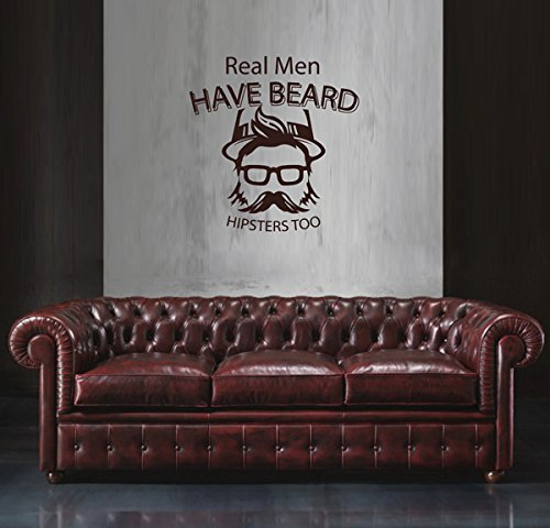 ik1792 Wall Decal Sticker man face beard hipster living room - Male Asian Faces