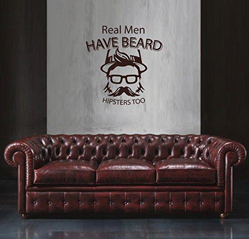 ik1792 Wall Decal Sticker man face beard hipster living room - Asian Faces Male