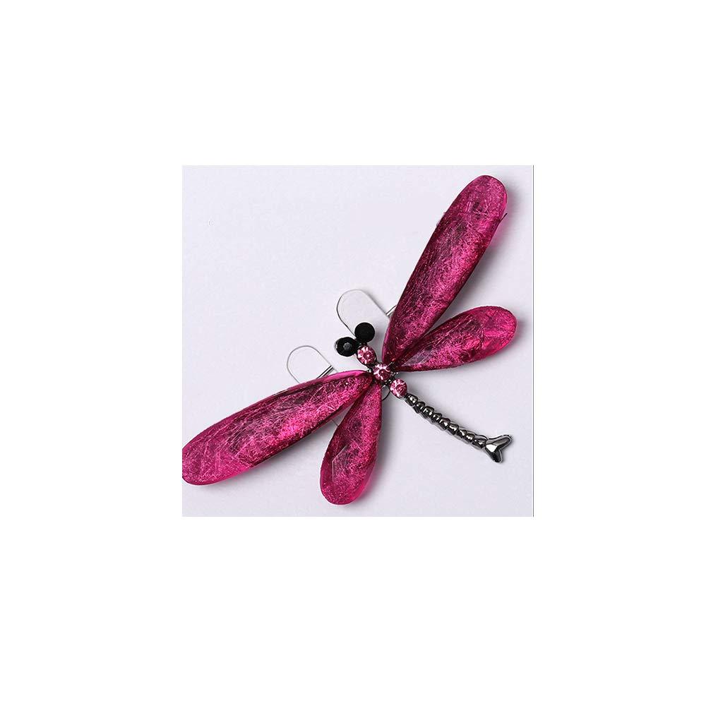 Dragonface Las Mujeres lib/élula de la Manera broches cristalinas del Rhinestone para la Ropa Regalos del Insecto Resina Joyas Animal Broche Charm