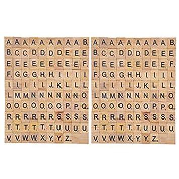 200 Piezas Madera de la Letra Azulejos Letras del Scrabble ...