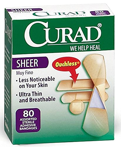 Medline CUR45243Z Curad Adhesive Bandages, Sheer (Box of 1)