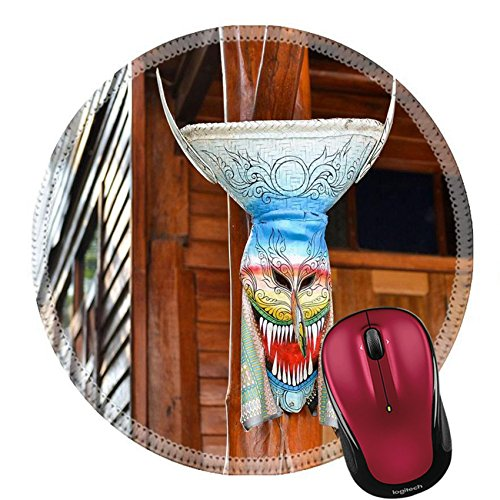 Liili Round Mouse Pad Natural Rubber Mousepad IMAGE ID 32608036 Ghost mask the belief of sacred festival in North East (Thailand Dancers Costumes)