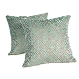 Green Wood Sofa Cushions Pillow Pillow Bed Back Core Pillow,4545cm ( Size : 50x50cm )