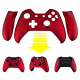 eXtremeRate Soft Touch Red Front Shell Face Plate with Left Right Panel Handle Side Rails for Xbox One Standard and W/3.5mm Headset Jack Controller Review