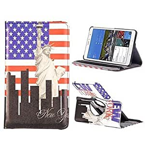 JJE Statue Of Liberty PC+Leather 360 Degree Rotate Flip Stand Case with Elastic Belt for Samsung Galaxy Tab Pro 8.4 T320