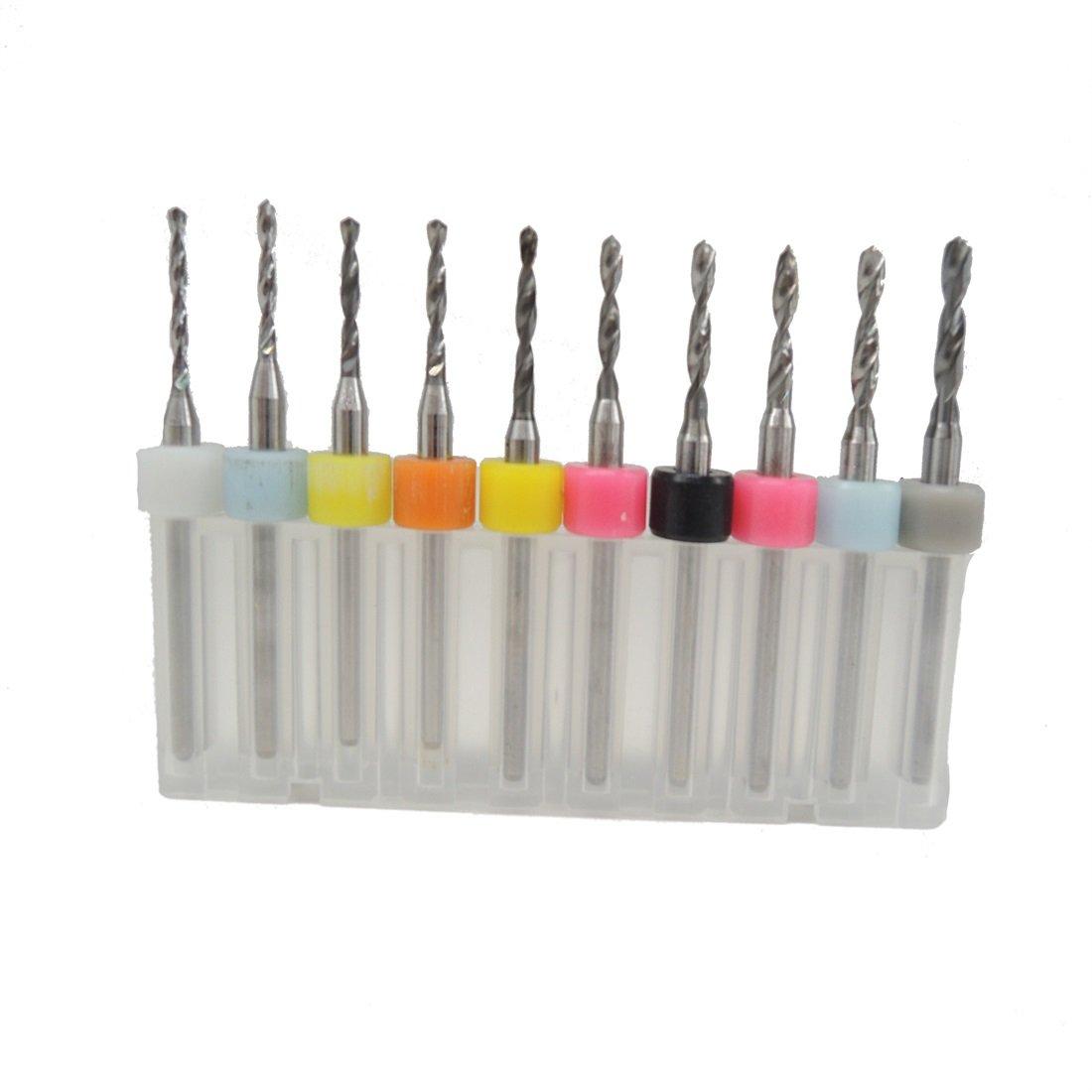 10pcs / Set 1.5mm zu 2.4mm harte Legierungs-PCB Drucken-Leiterplatte-Carbide-Mikrobohrgerät-Werkzeug-Werkzeug