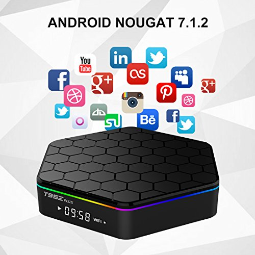IVSUN T95Z PLUS Android 7.1 TV BOX, Amlogic S912 Octa Core 2GB RAM 16GB ROM Support Dual WiFi 2.4G/5GHz 1000M LAN BT 4.0 UHD 4K 3D Smart TV Boxes with Mini Wireless Keyboard (BACKLIT) by IVSUN (Image #2)