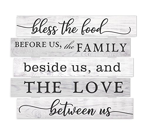 - MRC Wood Products Bless The Food Before Us The Family Beside Us and The Love Between Us Wall Sign 15x18