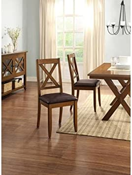 Better Homes and Gardens Maddox Crossing Dining Chair Set of 2 Brown