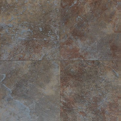 Continental Slate Porcelain Glazed Field Tile in Tuscan Blue