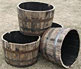 Lacquer finished Whisky Oak Wood Barrel Planter, 26