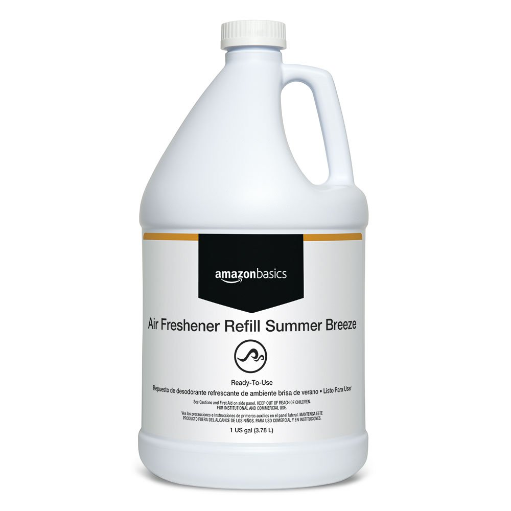AmazonBasics Professional Air Freshener Refill, Summer Breeze, 1-Gallon, 4-Pack