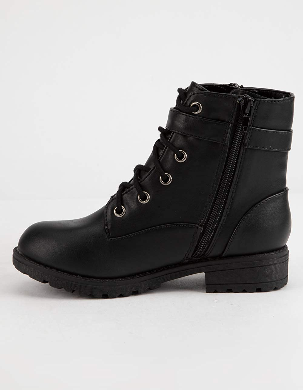 SODA Side Zip Girls Combat Boots