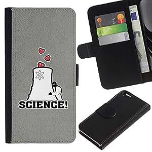 All Phone Most Case / Oferta Especial Cáscara Funda de cuero Monedero Cubierta de proteccion Caso / Wallet Case for Apple Iphone 6 // Love Scientist Nuclear Energy Heart