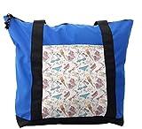 Lunarable Doodle Shoulder Bag, Summer Pattern Swimsuits, Durable with Zipper