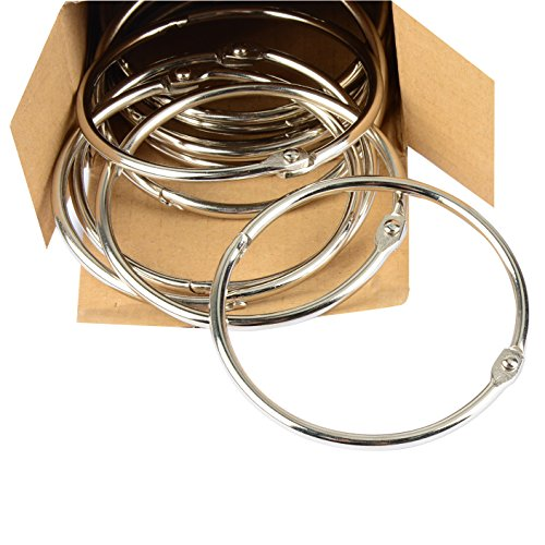 Pawfly Large Loose Leaf Binder Rings Book Ring, 2 Inch and 3 Inch, 24 Pieces (2 Inch Loose Leaf Rings)