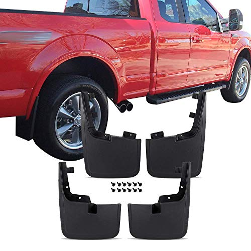 Mud Guards Fits 2015 2018 Ford F150 Front Rear Mud Flaps Splash Mud Guard Mudguard Mudflaps 4pc Set Black Without Fender Flares By Ikon Motorsports 2016 2017