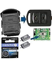 Repair reparatieset behuizing draadloze sleutel afstandsbediening autosleutel behuizing 2X microknop 1x CR2032 batterij compatibel met Opel