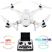 Flytec T23 GPS Follow Drone 2.4Ghz RC Quadcopter Drone with 6-Axis Gyro Wifi 1080p HD Camera Live Video ,Circling flight,Altitude Hold and Follow Me for Beginners