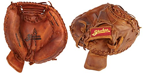 Shoeless Joe Gloves Brown Catchers Mitt, 34-Inch, Right Handed
