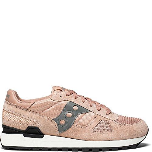 Saucony Originals Men's Shadow Original Running Shoe, Pink/Grey, 10.5 Medium US