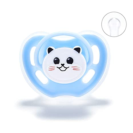 Chupete para recién nacido, con diseño de panda y gato, para ...