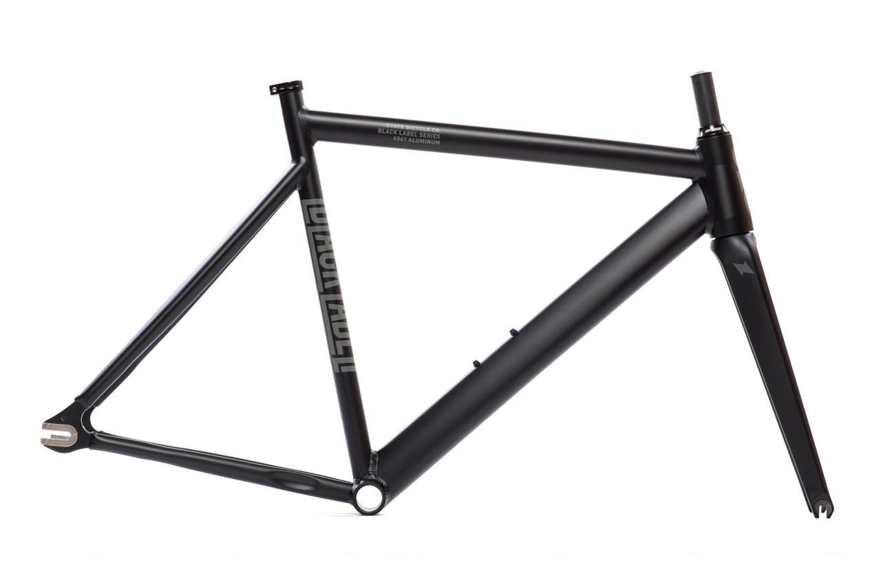 State Bicycle Black Label 6061 v2 Aluminum Frame and Fork Set, Matte Black, 52cm State Bicycle Co. 25-6061v2-FF-P
