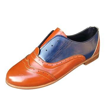 Mocasines Tribe para Mujer ZARLLE Cuero Zapatos de Tacón Medio,Tacónes Fabricados a Mano en Piel Genuina para su Total Confort y Comodidad Talla Grande: ...