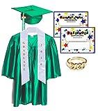 Child Shiny Green Deluxe Graduation Set, Large